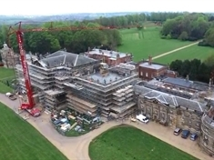 VIDEO: Bird's eye view of Wentworth Woodhouse as rooftop tours begin