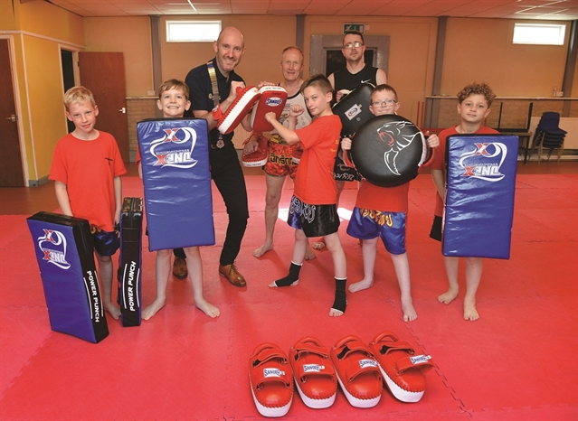 Alive and kicking: Maltby thai boxing club packing extra punch after Round Table donation