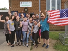 Mexborough flies the flag for American visitors