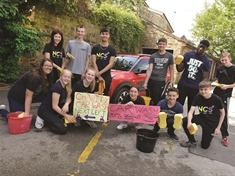 Students hope to clean up with charity car wash at Broom today