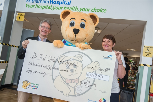 Shoppers' £650 boost for Rotherham Hospital charity at Parkgate fun day