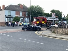 Man (22) taken to hospital following crash on Fitzwilliam Road