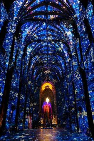 Star attraction! Cathedral set for stunning immersive Christmas light-and-sound display