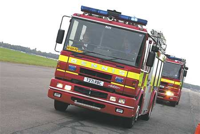 Ladder rescue at deliberate Rawmarsh fire