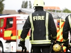Rolls Royce catches fire in Bolton-on-Dearne