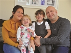 Superhero supermodel: Maya Henry's £16,000 donation makes family's dream of life-changing surgery for Amelia, 2, come true