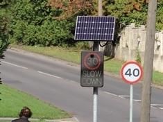 Council installs 30mph flashing speed sign - 20 metres from a 40mph zone