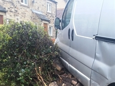 Van crashes into wall in Hickleton