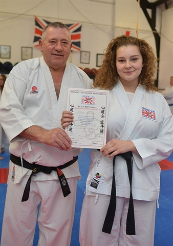 Dan-tastic effort as Rebecca earns black belt