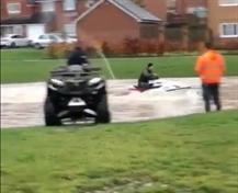 FLOODING: Jet ski spotted 'riding the waters in Thurcroft'