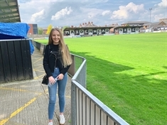 The Rotherham United fan with a foot in the camp of FA Cup opponents Maidenhead United ... meet devoted Miller Grace Scott