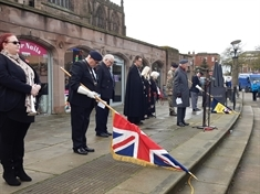 VIDEO: Armistice Day marked by service in Rotherham town centre