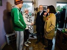 VIDEO: Labour leader Jeremy Corbyn visits flood-hit Conisbrough homes