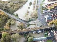 FLOODING: Water-bound Catcliffe caught on camera in drone video