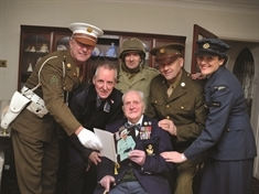 Special military escort for 100-year-old war veteran Fred Adamson