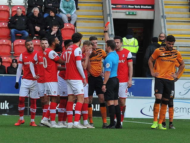 Impressive Millers, the red card and how abject officiating took the gloss of a thrilling FA Cup tie ... the story of Rotherham United 2 Hull City 3