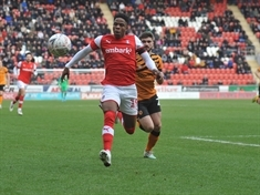 There's no stopping the fastest man in football, Rotherham United's Chiedozie Ogbene
