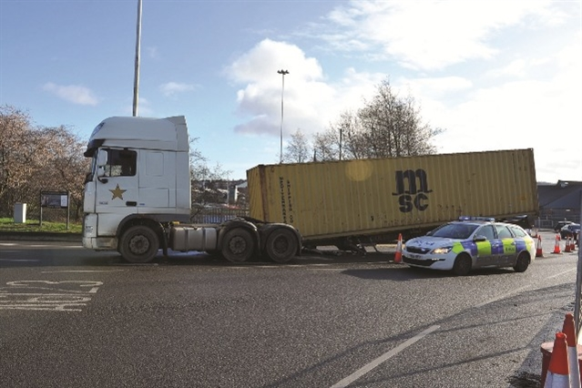 TRAFFIC: Delays after HGV trailer disconnects at roundabout