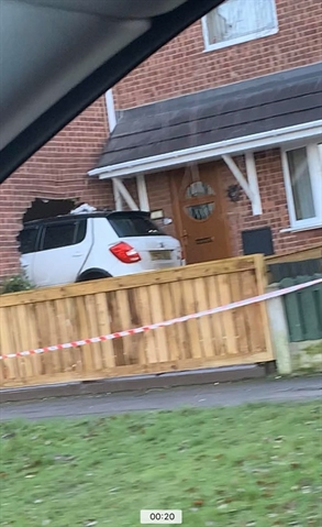 VIDEO: Man (23) is arrested after crashing his car into a house in Denaby and injuring a woman