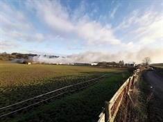 VIDEO: Heavy smoke this morning at Kiveton Park blaze