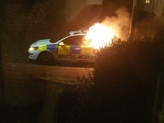 Police car torched in Rawmarsh