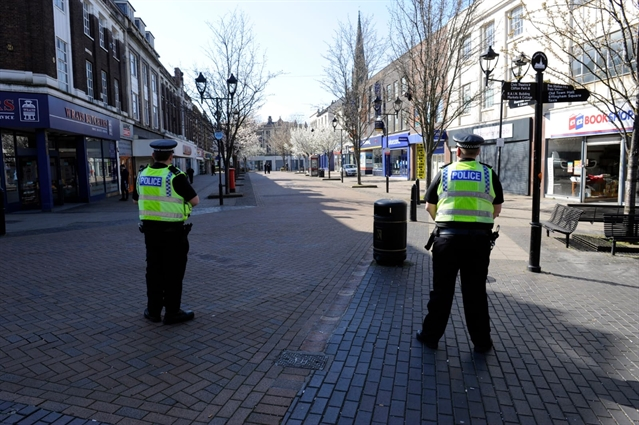 PICTURES: Police enforce lockdown in Rotherham