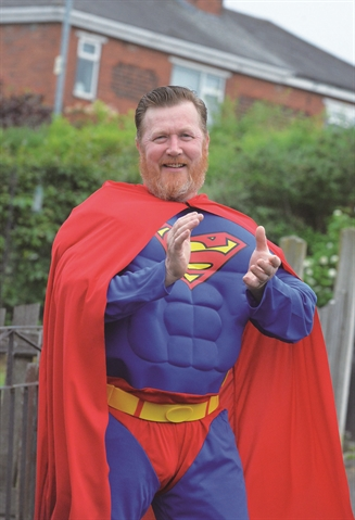Superheroes put smiles on faces in Rotherham
