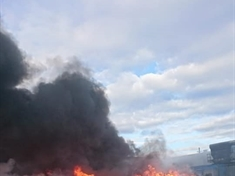 Huge blaze at recycling centre in Manvers