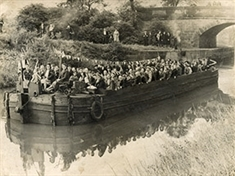 When a party on the street just is not big enough... Celebratory barge trip to Donny marked first VJ Day