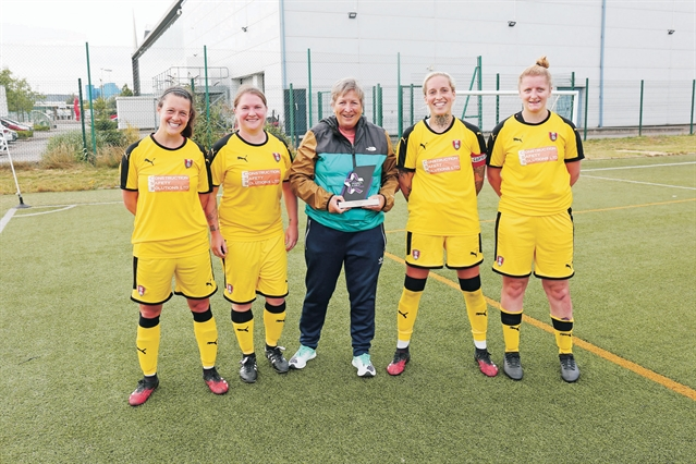 Rotherham women's football stalwart recognised for decades of loyal service