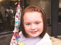 First ever haircut in aid of charity for seven-year-old Jasmine