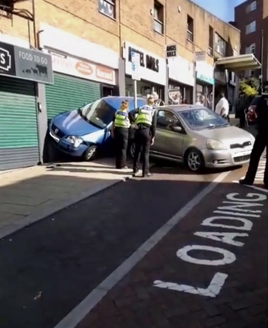 Car crashes into building in Rotherham town centre