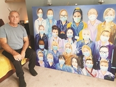 Artist Mark goes big on NHS