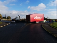 Traffic disruption on A57 after lorry detaches from trailer