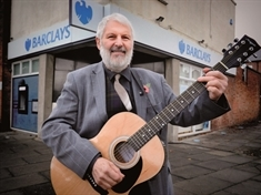 VIDEO: OAP Colin's not 'banking' on his song saving local Barclays