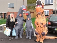 VIDEO: 'T-riffic' Hallowe'en treats delivered by 'roar-some' foursome