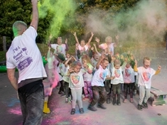 No dash but plenty of colour in Bluebell Wood fund-raising event