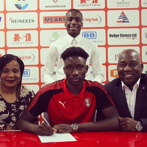 Josh Kayode ... the journey from homesick boy to potential Rotherham United star of the future