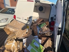 Community rallies round after foodbank vans targeted