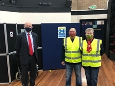 MP John Healey volunteers at Covid-19 vaccination site