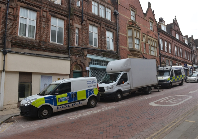 Cannabis farm found in town centre building