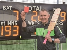 Calling the shots ... cricketer and football referee Matt Bacon is a man for all seasons