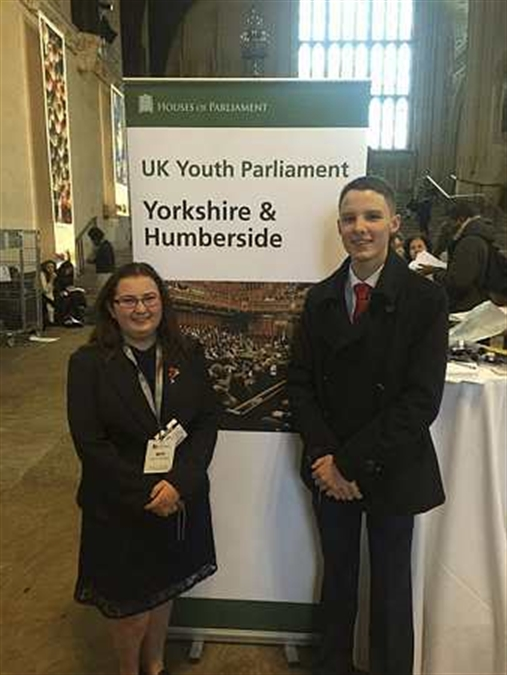 Young politicians represent Rotherham in Parliament