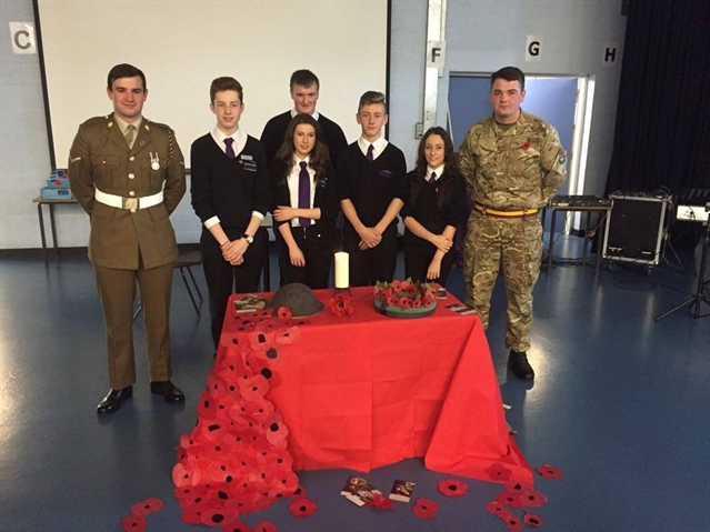 Ex-pupils bring military feel to Thrybergh school's remembrance tribute