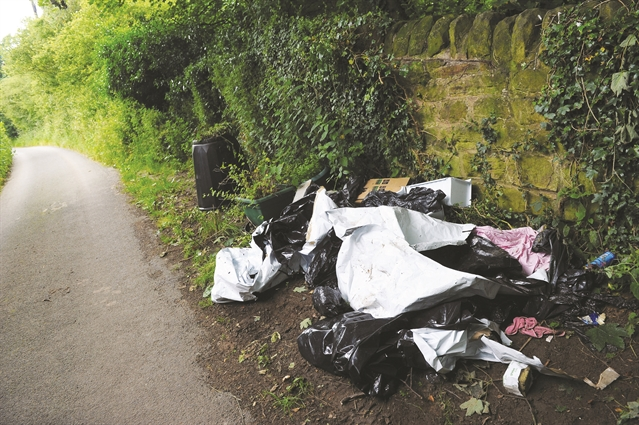 Fly-tipping hotspot cleaned up