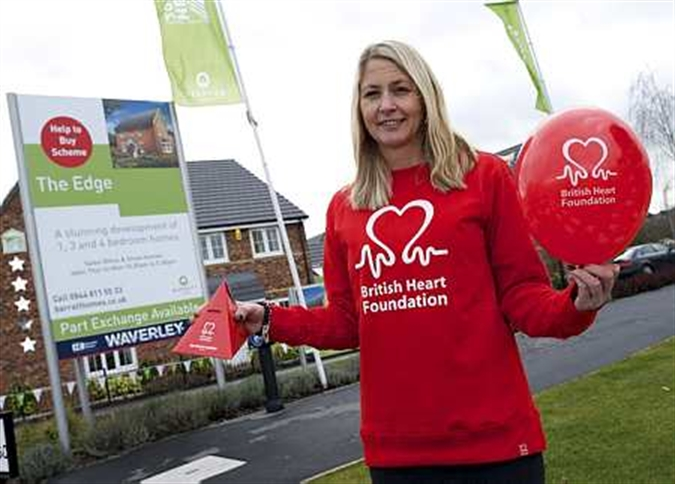 Housebuilder's backing for heart charity campaign